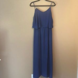 Mossimo Royal Blue Tiered Maxi Dress